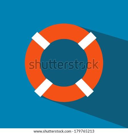 Life Ring  vector icon - stock vector