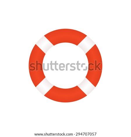 Lifebuoy icon, modern flat design style. Vector illustration, lifebelt symbol - stock vector