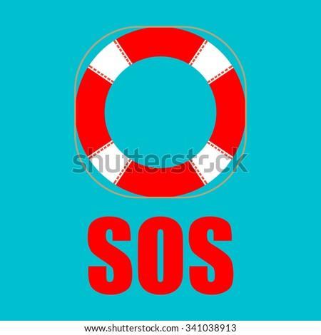 Lifebuoy icon . Vector illustration. - stock vector