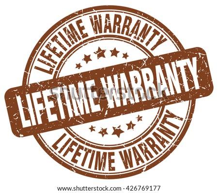 lifetime warranty brown grunge round vintage rubber stamp.lifetime warranty stamp.lifetime warranty round stamp.lifetime warranty grunge stamp.lifetime warranty.lifetime warranty vintage stamp. - stock vector