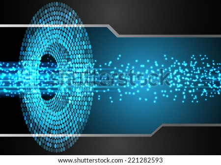 Light Abstract Technology background for computer graphic website and internet, - stock vector