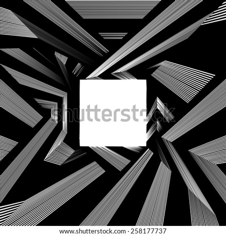 Light At The End Of Tunnel Quadrate Exit Vector 08 - stock vector