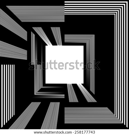 Light At The End Of Tunnel Quadrate Exit Vector 07 - stock vector