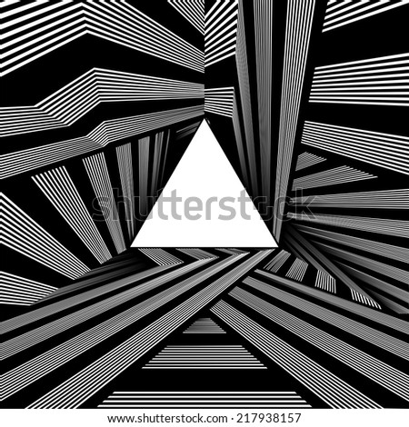 Light At The End Of Tunnel Triangle Exit Vector 03 - stock vector