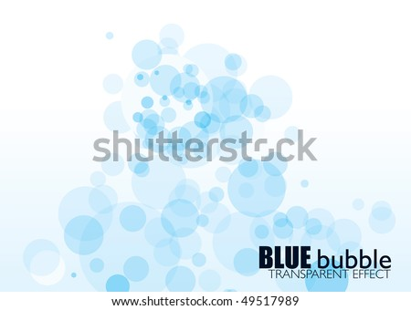 light blue bubble background with transparent effect and copyspace - stock vector