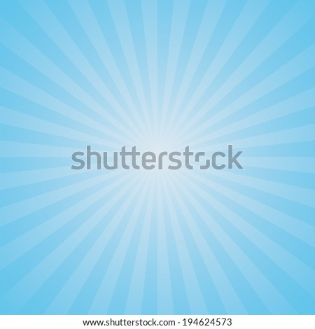 light blue color burst background. Vector illustration - stock vector