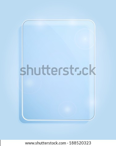 Light Blue Glass Framework. Vector Illustration - stock vector