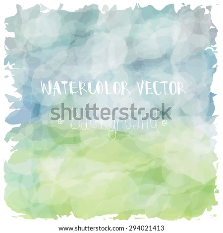Light blue green tone with retro vintage style and isolate on white background in summer. Love hipster wedding card - stock vector