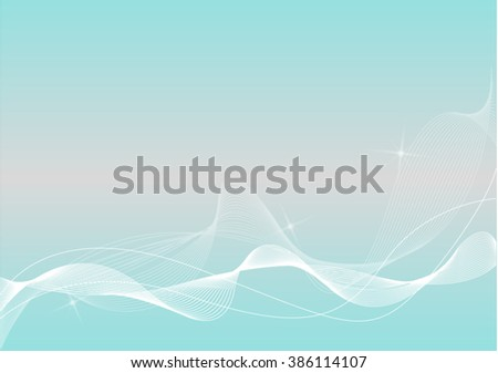 Light Blue, Grey and White Abstract Background with Blend - stock vector