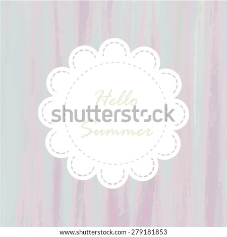 light blue violet purple rainbow tone with retro vintage style and isolate on white background in summer wedding card. - stock vector