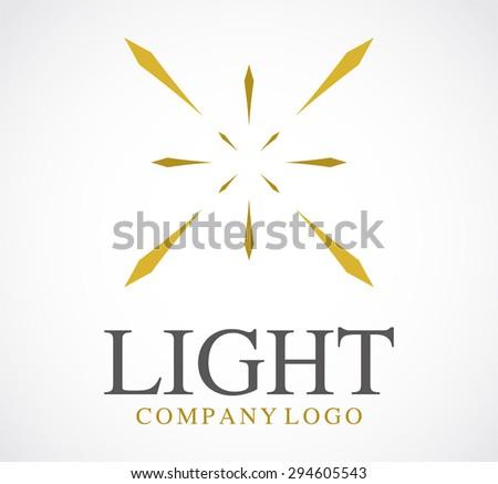Light bright gold shine line elegant logo element design vector shape icon symbol business template company abstract - stock vector