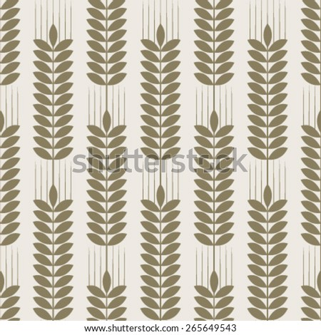 light brown wheat pattern - stock vector