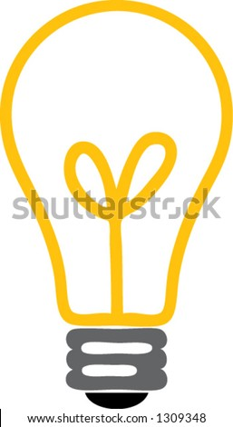 Light Bulb - stock vector