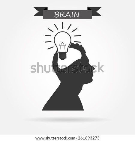 Light bulb concept - stock vector