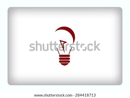 light, bulb, electricity icon - stock vector