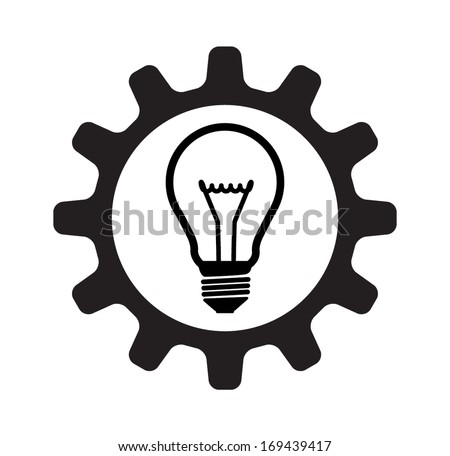 LIGHT BULB GEAR CONCEPT  - stock vector