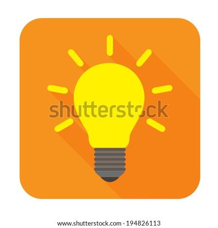 Light bulb icon - Vector - stock vector