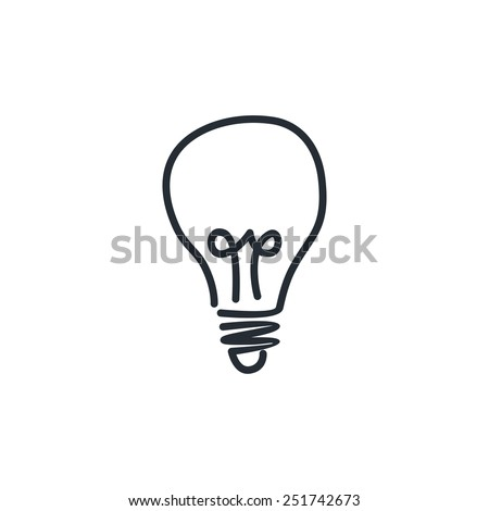 light bulb - idea theme - stock vector