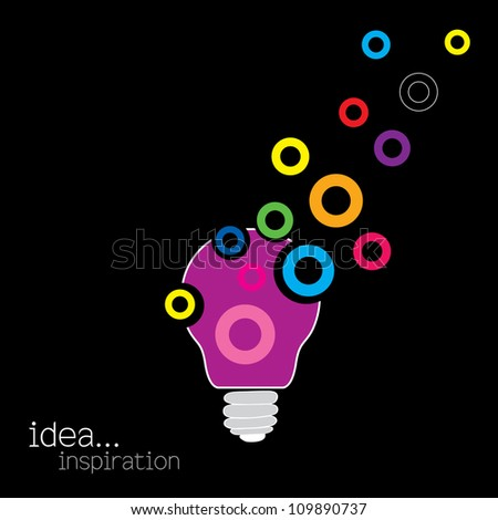 light bulb idea vector illustration - stock vector