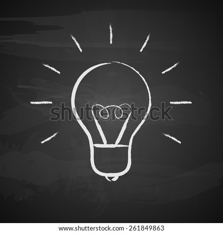 Light bulb on black background. Vector illustration - stock vector