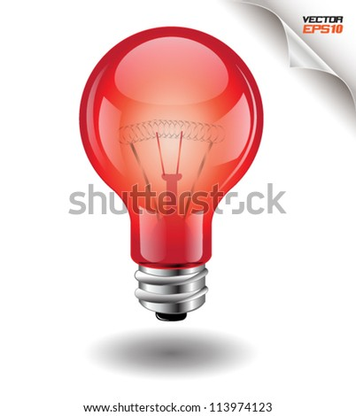 light bulb Red, can use for business concept,  brochure object. - stock vector