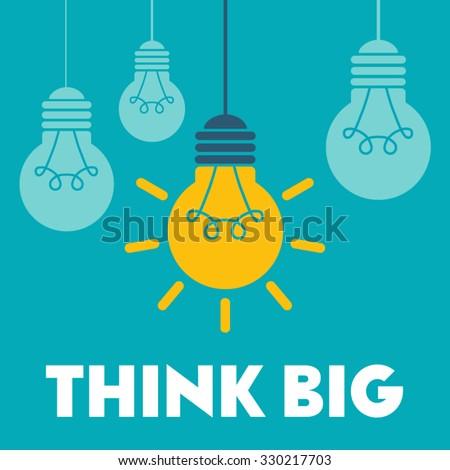 Light bulb vector icon. - stock vector