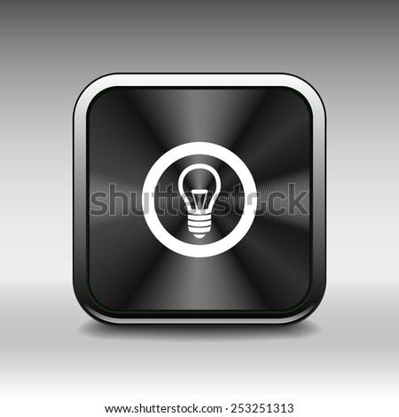 Light bulb vector icon vector lamp - stock vector