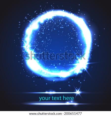 light circle - stock vector