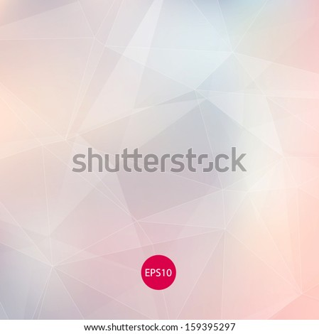 Light colors subtle pale vector abstract polygonal background. Modern and trendy geometric pattern. Smooth and light tones. For contemporary web and print design. - stock vector