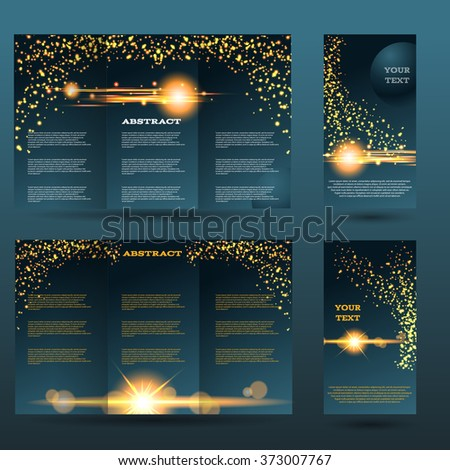 Light design templates collection for banners, flyers, placards and posters. Bokeh light design. Vector illustration eps 10 - stock vector