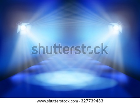 Light festival on the stage. Vector illustration. - stock vector