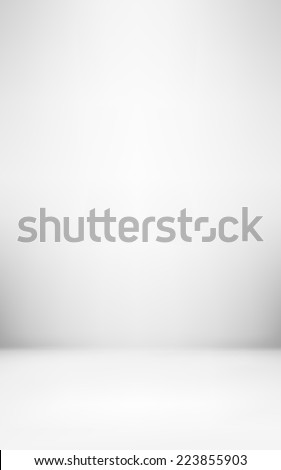 light gray abstract illustration background texture of gradient wall and flat floor in empty spacious room interior - stock vector