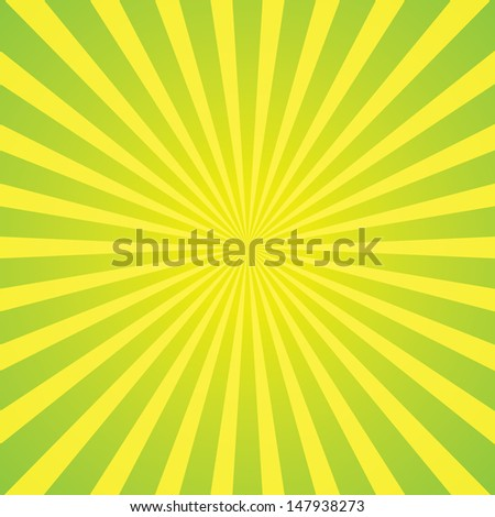 light green rays star burst television vintage background - stock vector