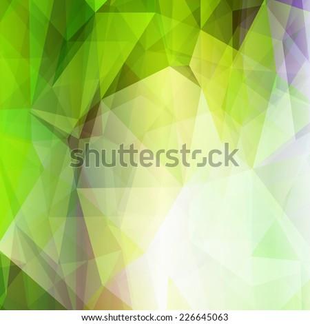 Light green shining abstract geometric pattern. Technological futuristic design. Triangular background. - stock vector