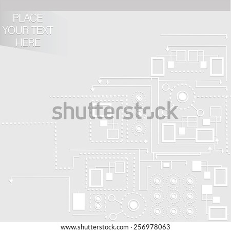 Light grey background with scheme and place for your text - stock vector