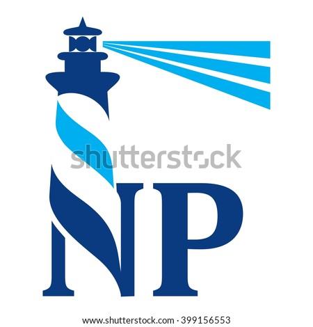 light house logotype vector. logo vector. - stock vector