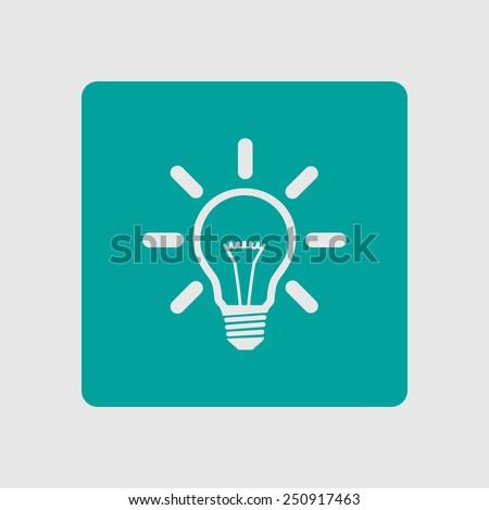 Light lamp sign icon. Idea bulb symbol. - stock vector