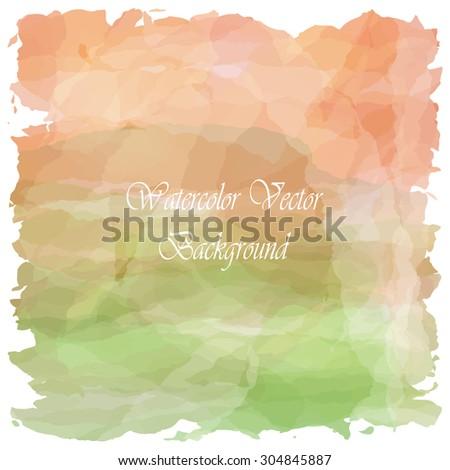 Light love orange green tone vintage background - stock vector