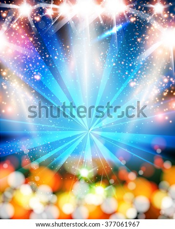 Light neon party background easy all editable - stock vector
