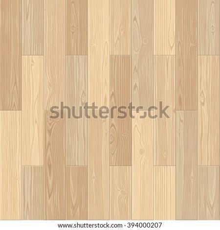 Light parquet seamless floor texture. Editable vector pattern in swatches. - stock vector
