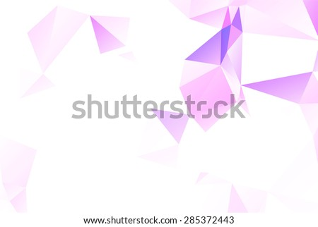 Light pink and purple triangles origami style low poly background template - stock vector