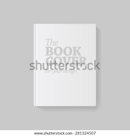 Light Realistic Blank book cover vector illustration - stock vector