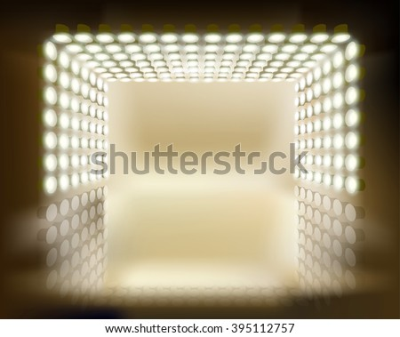 Light show. Vector illustration. - stock vector