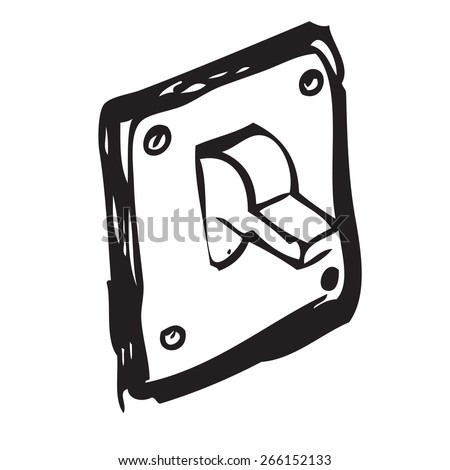Light Switch Doodle - stock vector