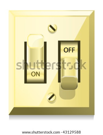 Light Switch - Vector Illustration - stock vector