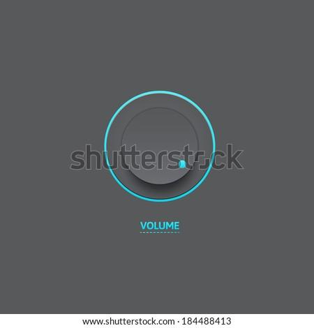 Light Web UI Elements Design Black. Elements: Buttons, Switchers, Slider, mix, - stock vector