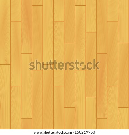 Light yellow wooden floor realistic seamless background, vector. Includes clipping mask for more edit options, - stock vector
