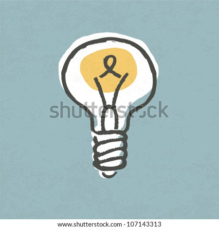 Lightbulb illustration. Creative idea symbol concept. Vector, EPS10. - stock vector