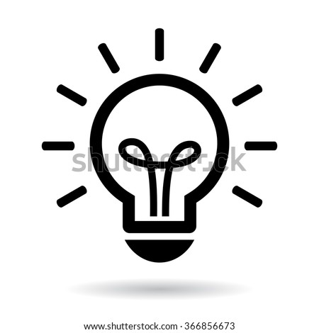 Lightbulb vector icon illustration isolated on white background - stock vector