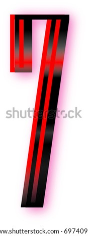 lighted seven - stock vector
